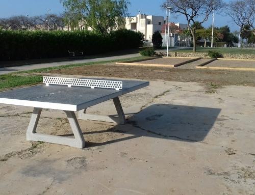 Instaladas 2 pistas de petanca y 2 mesas de Ping-Pong en Costa Ballena Chipiona